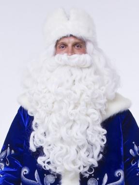 Борода и парик Деда Мороза Элит (комплект) фото 2