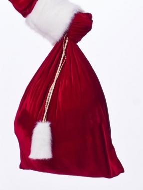 Красный мешок для подарков 50см на 60см