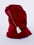 Мешок для подарков красный 75см на 100см