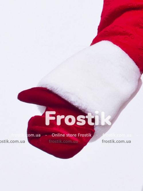 Варежки Деда Мороза красные