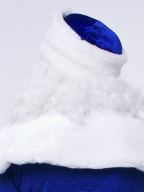 Синяя шапка Деда Мороза фото 2