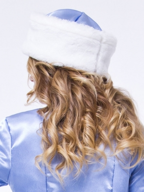 Шапка Снегурочки синяя
