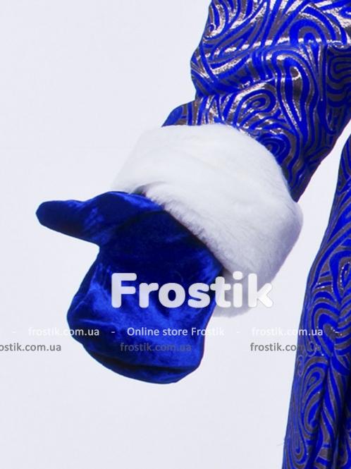 Варежки Деда Мороза синие