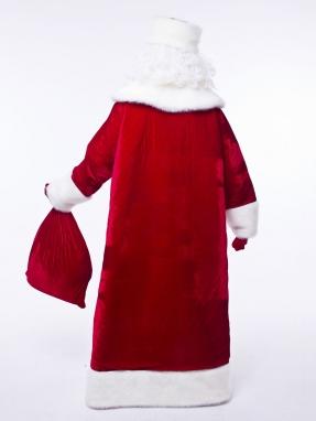 Красный барский костюм Деда Мороза (борода Кристал в подарок) фото 2