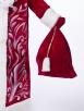 Красный барский костюм Деда Мороза (борода Кристал в подарок)