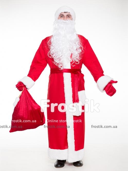 Красный костюм Деда Мороза Эконом