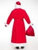 Прокат красного костюма Деда Мороза эконом