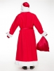 Красный костюм Деда Мороза Эконом (борода Мини в подарок)