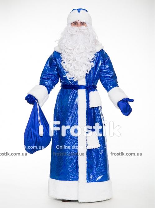 Костюм Деда Мороза Купеческий синий