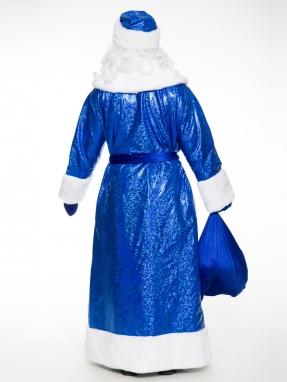Костюм Деда Мороза Купеческий синий фото 2