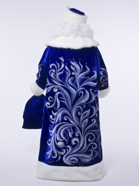 Костюм Деда Мороза Королевский синий + парик в подарок