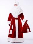 Костюм Деда Мороза Великий красный + накладки на обувь в подарок
