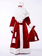 Красный костюм Деда Мороза Великий (борода и мешок в подарок)