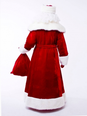Красный костюм Деда Мороза Великий (борода Кристал в подарок)