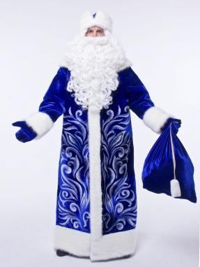 Костюм Деда Мороза Барский синий