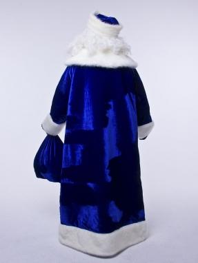 Синий барский костюм Деда Мороза фото 2