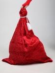 Красный мешок для подарков 65см на 85см