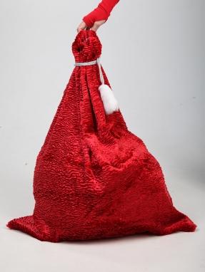 Красный мешок для подарков 66см на 86см