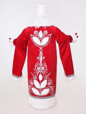 Боярский костюм Деда Мороза с рукавами (большой мешок и борода в подарок) фото 2