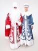 Боярский костюм Деда Мороза с рукавами (большой мешок и борода в подарок)