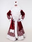 Узорный костюм Деда Мороза (борода Кристал и мешок в подарок)