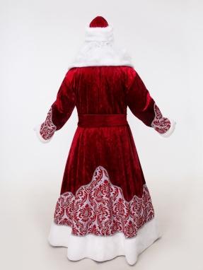 Узорный костюм Деда Мороза (борода Кристал и мешок в подарок) фото 2