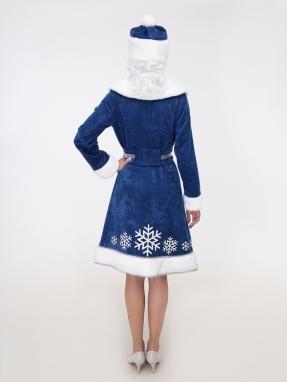 Синий костюм Снегурочки со снежинками фото 2