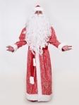 Южный красный костюм Деда Мороза (борода Мини в подарок)
