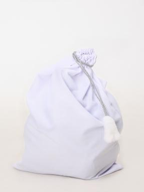Белый мешок для подарков 75см на 100см