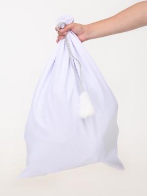 Белый мешок для подарков 50см на 75см