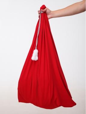 Красный мешок для подарков 75см на 100см