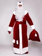 Красный бархатный костюм Деда Мороза