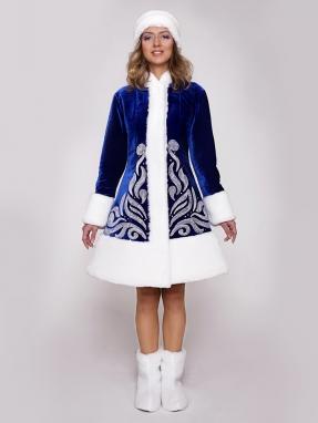 Серебряный костюм снегурочки Вьюга (унты в подарок)