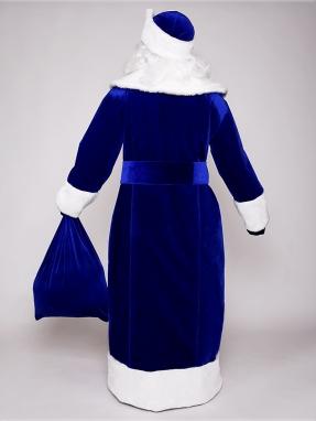 Синий бархатный костюм Деда Мороза фото 2