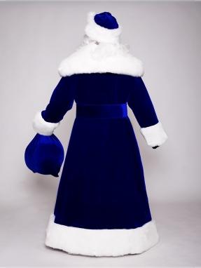 Синий костюм Деда Мороза Великий (борода Кристал в подарок)