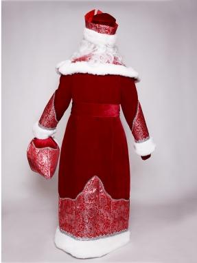 Красный боярский костюм Деда Мороза фото 2