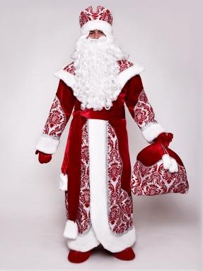 Костюм Деда Мороза Узорный (прокат)