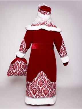 Прокат узорного костюма Деда Мороза фото 2