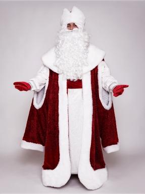 Костюм Деда Мороза Каракуль с рукавами