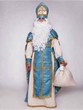 Классический голубой костюм Святого Николая