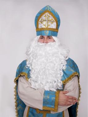Голубая митра (шапка) Святого Николая
