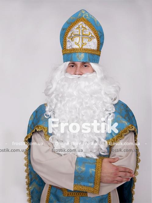 Митра (шапка) Святого Николая голубая