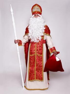 Красный классический костюм Святого Николая