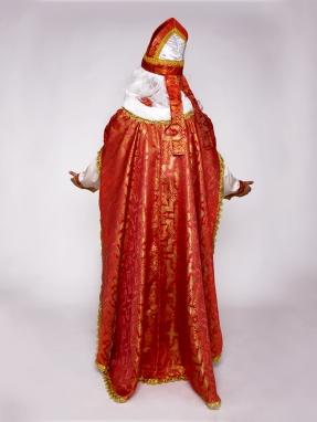 Красный классический костюм Святого Николая фото 2