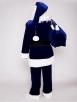 Классический синий костюм Санта Клауса