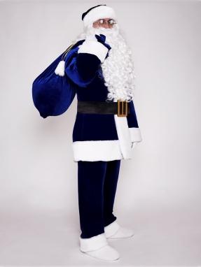 Классический синий костюм Санта Клауса фото 2