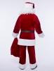 Красный классический костюм Санта Клауса + колокольчик в подарок