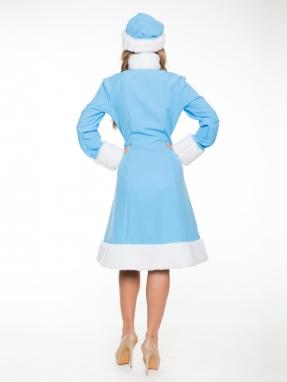 Прокат голубого костюма снегурочки Эконом фото 2