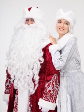 Борода и парик Деда Мороза Профи (комплект) фото 2
