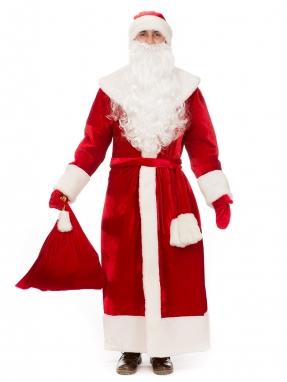 Костюм Деда Мороза классический красный (прокат)